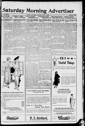 Primary view of object titled 'Saturday Morning Advertiser (Durant, Okla.), Vol. 7, No. 4, Ed. 1, Saturday, December 13, 1919'.