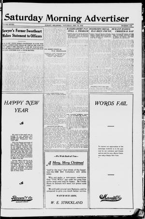 Primary view of object titled 'Saturday Morning Advertiser (Durant, Okla.), Vol. 7, No. 6, Ed. 1, Saturday, December 27, 1919'.