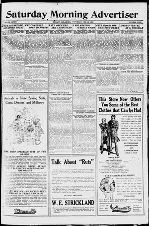 Primary view of object titled 'Saturday Morning Advertiser (Durant, Okla.), Vol. 7, No. 9, Ed. 1, Saturday, February 28, 1920'.