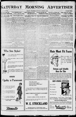 Primary view of object titled 'Saturday Morning Advertiser (Durant, Okla.), Vol. 7, No. 10, Ed. 1, Saturday, March 6, 1920'.