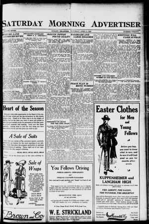 Primary view of object titled 'Saturday Morning Advertiser (Durant, Okla.), Vol. 7, No. 20, Ed. 1, Saturday, April 3, 1920'.