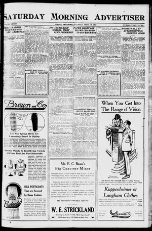 Primary view of object titled 'Saturday Morning Advertiser (Durant, Okla.), Vol. 7, No. 22, Ed. 1, Saturday, April 17, 1920'.