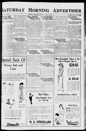 Primary view of object titled 'Saturday Morning Advertiser (Durant, Okla.), Vol. 7, No. 23, Ed. 1, Saturday, April 24, 1920'.