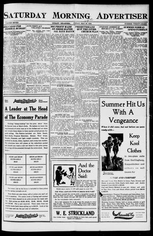 Primary view of object titled 'Saturday Morning Advertiser (Durant, Okla.), Vol. 7, No. 28, Ed. 1, Saturday, May 29, 1920'.
