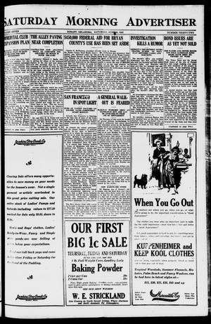Primary view of object titled 'Saturday Morning Advertiser (Durant, Okla.), Vol. 7, No. 32, Ed. 1, Saturday, June 26, 1920'.