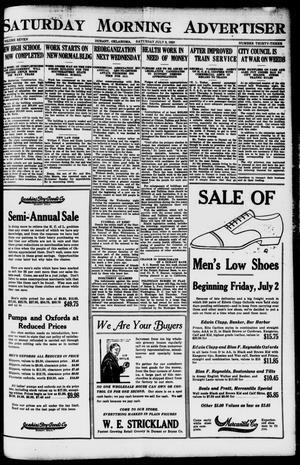 Primary view of object titled 'Saturday Morning Advertiser (Durant, Okla.), Vol. 7, No. 33, Ed. 1, Saturday, July 3, 1920'.