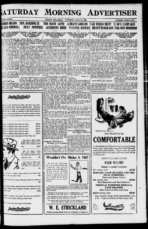 Primary view of object titled 'Saturday Morning Advertiser (Durant, Okla.), Vol. 7, No. 26, Ed. 1, Saturday, July 24, 1920'.