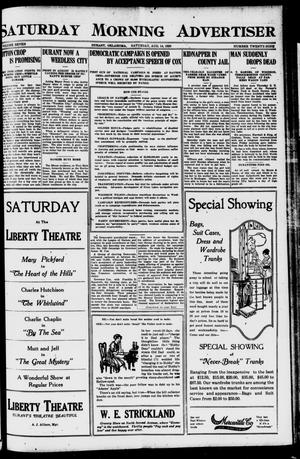 Primary view of object titled 'Saturday Morning Advertiser (Durant, Okla.), Vol. 7, No. 29, Ed. 1, Saturday, August 14, 1920'.