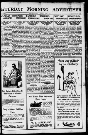 Primary view of object titled 'Saturday Morning Advertiser (Durant, Okla.), Vol. 7, No. 34, Ed. 1, Saturday, September 18, 1920'.