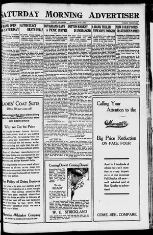 Primary view of object titled 'Saturday Morning Advertiser (Durant, Okla.), Vol. 7, No. 26, Ed. 1, Saturday, October 2, 1920'.