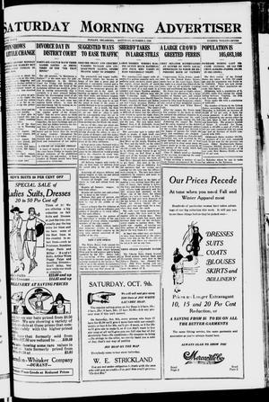 Primary view of object titled 'Saturday Morning Advertiser (Durant, Okla.), Vol. 7, No. 27, Ed. 1, Saturday, October 9, 1920'.