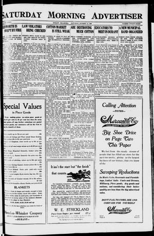 Primary view of object titled 'Saturday Morning Advertiser (Durant, Okla.), Vol. 7, No. 28, Ed. 1, Saturday, October 16, 1920'.
