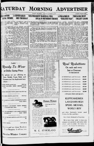 Primary view of object titled 'Saturday Morning Advertiser (Durant, Okla.), Vol. 7, No. 29, Ed. 1, Saturday, October 23, 1920'.