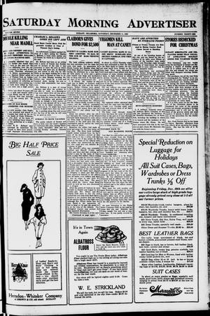 Primary view of object titled 'Saturday Morning Advertiser (Durant, Okla.), Vol. 7, No. 36, Ed. 1, Saturday, December 11, 1920'.