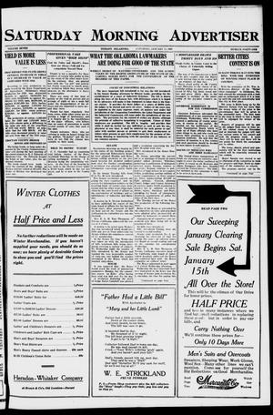 Primary view of object titled 'Saturday Morning Advertiser (Durant, Okla.), Vol. 7, No. 41, Ed. 1, Saturday, January 15, 1921'.