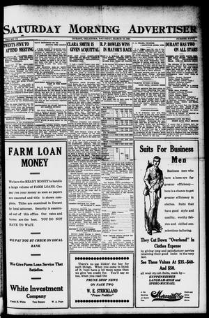 Primary view of object titled 'Saturday Morning Advertiser (Durant, Okla.), Vol. 7, No. 50, Ed. 1, Saturday, March 19, 1921'.