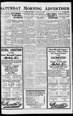 Primary view of object titled 'Saturday Morning Advertiser (Durant, Okla.), Vol. 8, No. 5, Ed. 1, Saturday, May 7, 1921'.