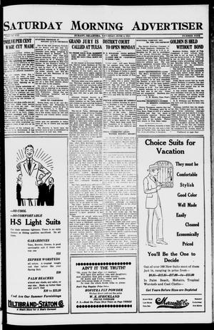 Primary view of object titled 'Saturday Morning Advertiser (Durant, Okla.), Vol. 8, No. 9, Ed. 1, Saturday, June 4, 1921'.