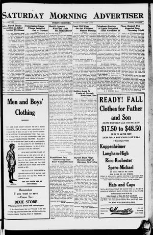 Primary view of object titled 'Saturday Morning Advertiser (Durant, Okla.), Vol. 8, No. 19, Ed. 1, Saturday, October 8, 1921'.