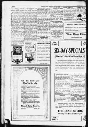 Primary view of object titled 'Saturday Morning Advertiser (Durant, Okla.), Vol. 8, No. 40, Ed. 1, Saturday, March 25, 1922'.