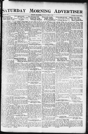 Primary view of object titled 'Saturday Morning Advertiser (Durant, Okla.), Vol. 8, No. 42, Ed. 1, Saturday, April 8, 1922'.