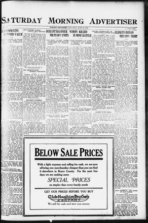 Primary view of object titled 'Saturday Morning Advertiser (Durant, Okla.), Vol. 9, No. 1, Ed. 1, Saturday, June 24, 1922'.