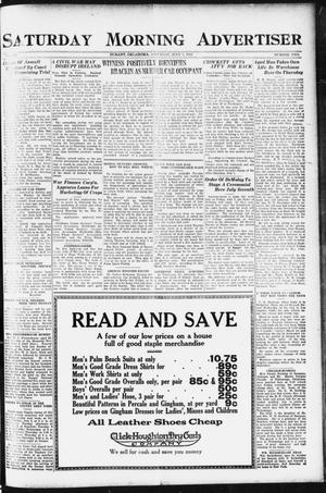 Primary view of object titled 'Saturday Morning Advertiser (Durant, Okla.), Vol. 9, No. 2, Ed. 1, Saturday, July 1, 1922'.