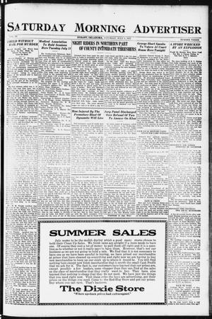 Primary view of object titled 'Saturday Morning Advertiser (Durant, Okla.), Vol. 9, No. 3, Ed. 1, Saturday, July 8, 1922'.