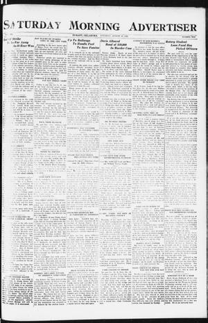 Primary view of object titled 'Saturday Morning Advertiser (Durant, Okla.), Vol. 9, No. 10, Ed. 1, Saturday, August 26, 1922'.