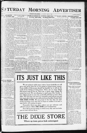 Primary view of object titled 'Saturday Morning Advertiser (Durant, Okla.), Vol. 9, No. 11, Ed. 1, Saturday, September 2, 1922'.