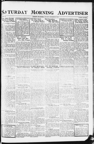 Primary view of object titled 'Saturday Morning Advertiser (Durant, Okla.), Vol. 9, No. 13, Ed. 1, Saturday, September 16, 1922'.