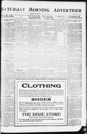 Primary view of object titled 'Saturday Morning Advertiser (Durant, Okla.), Vol. 9, No. 14, Ed. 1, Saturday, September 23, 1922'.