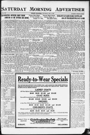 Primary view of object titled 'Saturday Morning Advertiser (Durant, Okla.), Vol. 9, No. 24, Ed. 1, Saturday, December 2, 1922'.