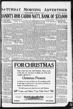 Primary view of object titled 'Saturday Morning Advertiser (Durant, Okla.), Vol. 9, No. 26, Ed. 1, Saturday, December 16, 1922'.