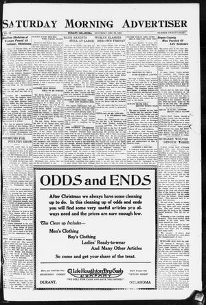Primary view of object titled 'Saturday Morning Advertiser (Durant, Okla.), Vol. 9, No. 28, Ed. 1, Saturday, December 30, 1922'.