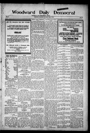 Primary view of object titled 'Woodward Daily Democrat (Woodward, Okla.), Vol. 2, No. 185, Ed. 1 Saturday, April 9, 1910'.