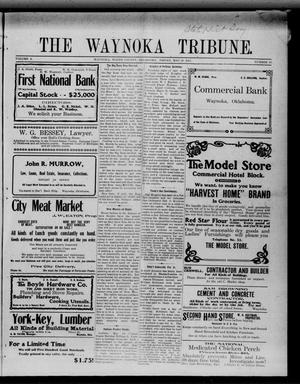 Primary view of object titled 'The Waynoka Tribune. (Waynoka, Okla.), Vol. 3, No. 16, Ed. 1 Friday, May 26, 1911'.