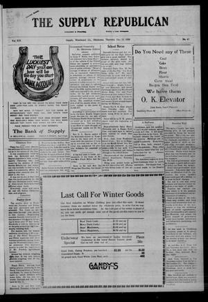 Primary view of The Supply Republican (Supply, Okla.), Vol. 19, No. 47, Ed. 1 Thursday, December 23, 1920