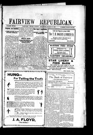 Primary view of object titled 'Fairview Republican. (Fairview, Okla.), Vol. 7, No. 27, Ed. 1 Friday, March 29, 1907'.