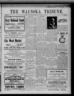 Primary view of object titled 'The Waynoka Tribune. (Waynoka, Okla.), Vol. 3, No. 27, Ed. 1 Friday, August 11, 1911'.