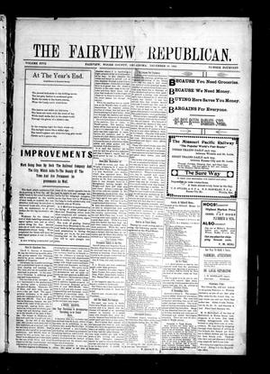 Primary view of object titled 'The Fairview Republican. (Fairview, Okla.), Vol. 5, No. 14, Ed. 1 Friday, December 30, 1904'.