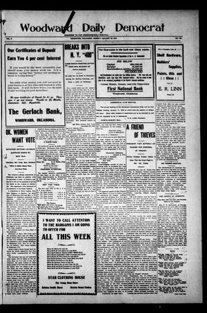 Primary view of object titled 'Woodward Daily Democrat (Woodward, Okla.), Vol. 2, No. 109, Ed. 1 Monday, January 10, 1910'.