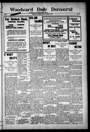 Primary view of object titled 'Woodward Daily Democrat (Woodward, Okla.), Vol. 2, No. 120, Ed. 1 Saturday, January 22, 1910'.