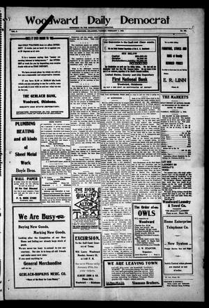 Primary view of object titled 'Woodward Daily Democrat (Woodward, Okla.), Vol. 2, No. 128, Ed. 1 Tuesday, February 1, 1910'.