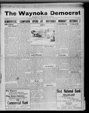 Primary view of object titled 'The Waynoka Democrat (Waynoka, Okla.), Vol. 4, No. 35, Ed. 1 Thursday, October 3, 1912'.