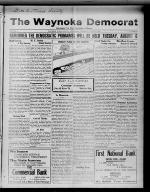 Primary view of object titled 'The Waynoka Democrat (Waynoka, Okla.), Vol. 4, No. 27, Ed. 1 Thursday, August 1, 1912'.