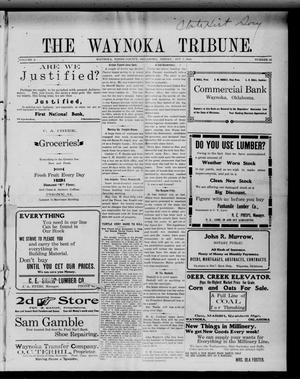 Primary view of object titled 'The Waynoka Tribune. (Waynoka, Okla.), Vol. 2, No. 32, Ed. 1 Friday, October 7, 1910'.