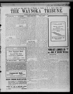 Primary view of object titled 'The Waynoka Tribune. (Waynoka, Okla.), Vol. 2, No. 13, Ed. 1 Friday, April 29, 1910'.