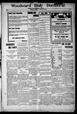 Primary view of object titled 'Woodward Daily Democrat (Woodward, Okla.), Vol. 2, No. 192, Ed. 1 Monday, April 18, 1910'.