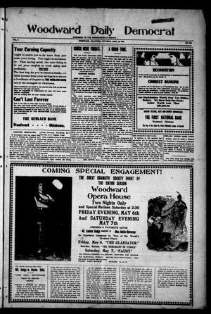 Primary view of Woodward Daily Democrat (Woodward, Okla.), Vol. 2, No. 203, Ed. 1 Saturday, April 30, 1910